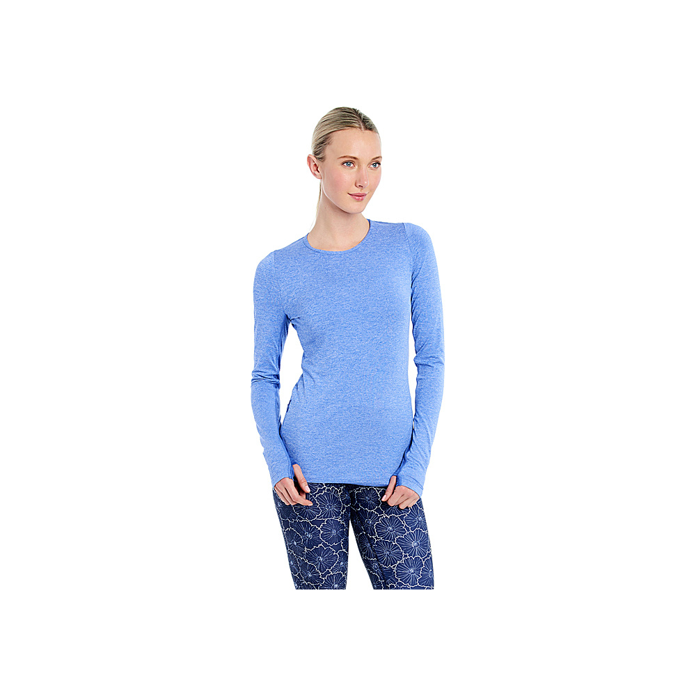 Lole Agnessa Top L - Dazzling Blue Heather - Lole Womens Apparel - Apparel & Footwear, Women's Apparel