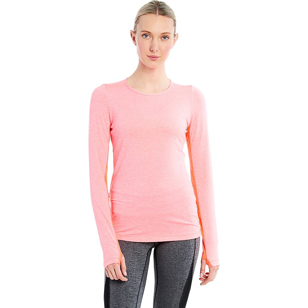 Lole Agnessa Top S - Fiery Coral Heather - Lole Womens Apparel - Apparel & Footwear, Women's Apparel