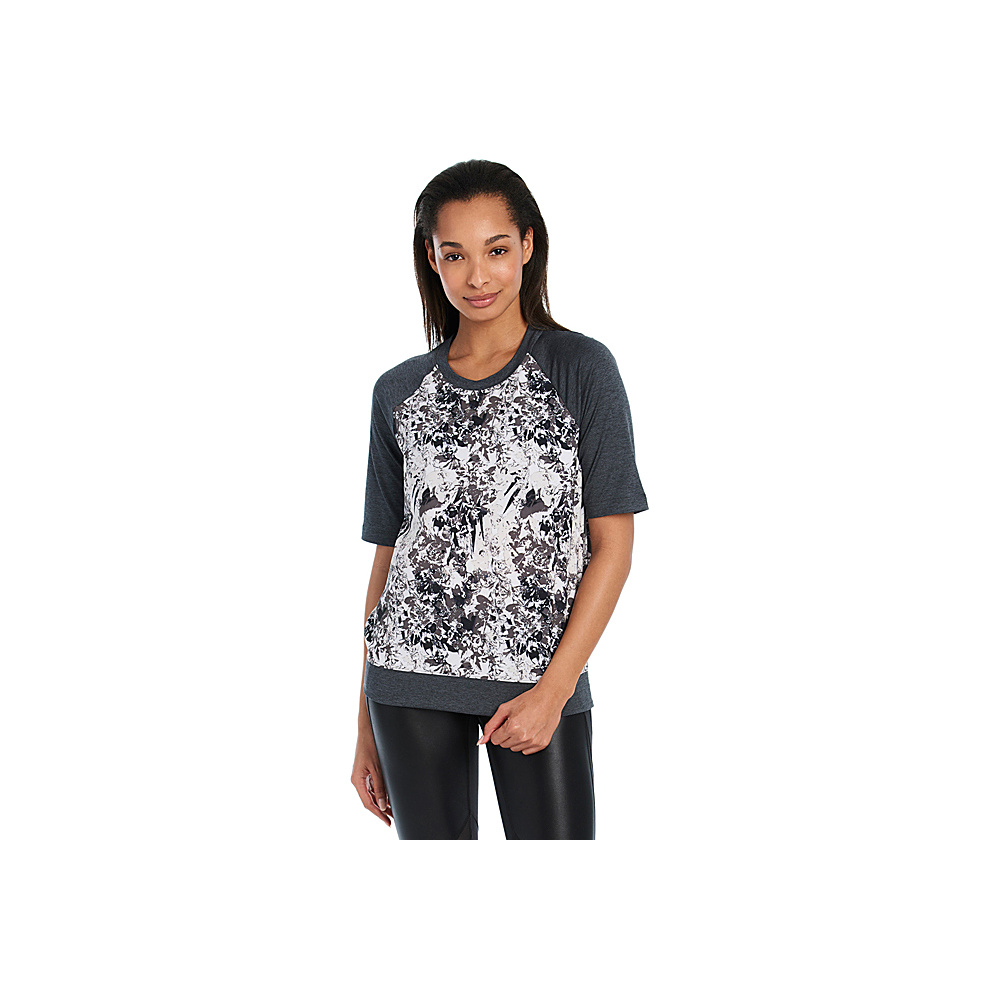 Lole Zaida Top M - Dark Charcoal Fleurs - Lole Womens Apparel - Apparel & Footwear, Women's Apparel