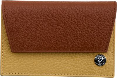 Rapport London Berkeley Leather Credit Card Holder Tan & Cream - Rapport London Men's Wallets
