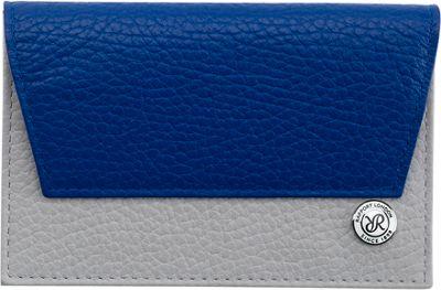 Rapport London Berkeley Leather Credit Card Holder Blue & Grey - Rapport London Men's Wallets
