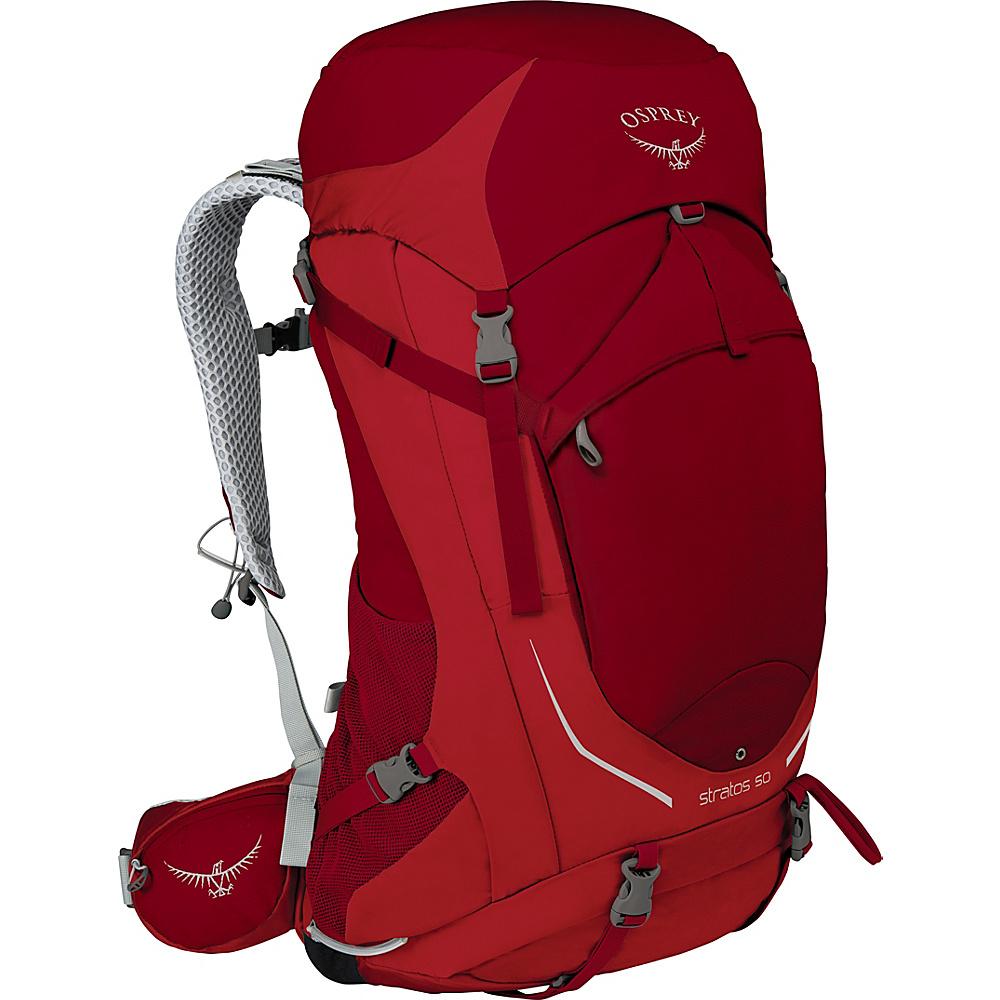 Osprey Stratos 50 Hiking Pack Beet Red – M/L - Osprey Backpacking Packs - Outdoor, Backpacking Packs