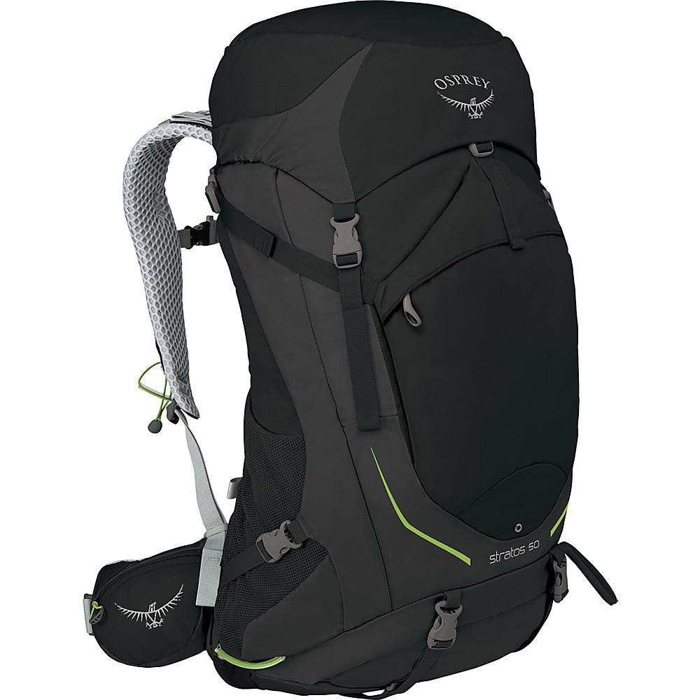 Osprey Stratos 50 Hiking Pack Black - M/L - Osprey Backpacking Packs - Outdoor, Backpacking Packs
