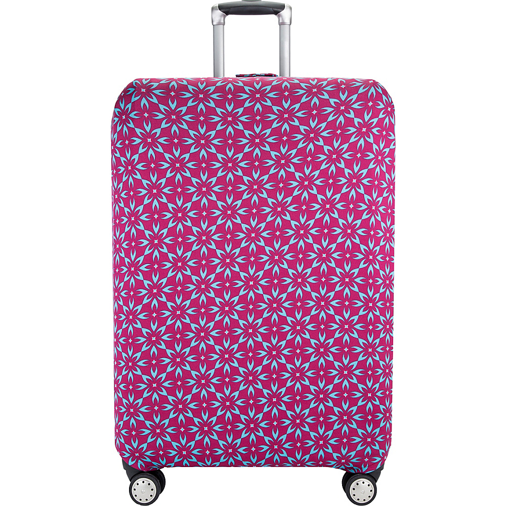 Travelon Luggage Cover Large Berry Floral - Travelon Luggage Accessories - Travel Accessories, Luggage Accessories