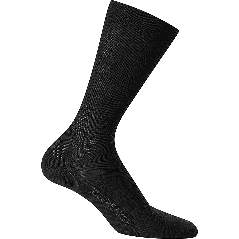 Icebreaker Mens Lifestyle Ultra Light Crew Sock L - Black - Icebreaker Legwear/Socks - Fashion Accessories, Legwear/Socks