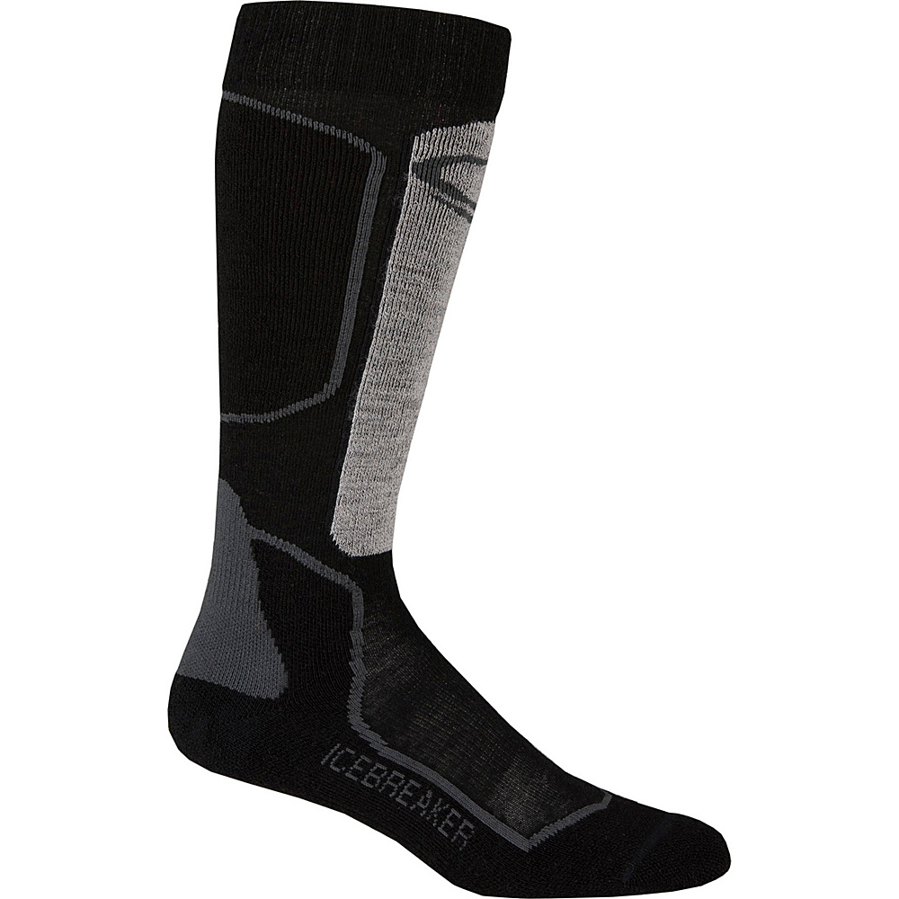 Icebreaker Womens Ski+ Light OTC Sock S - Oil/Black/Silver - Icebreaker Womens Legwear/Socks - Apparel & Footwear, Women's Legwear/Socks