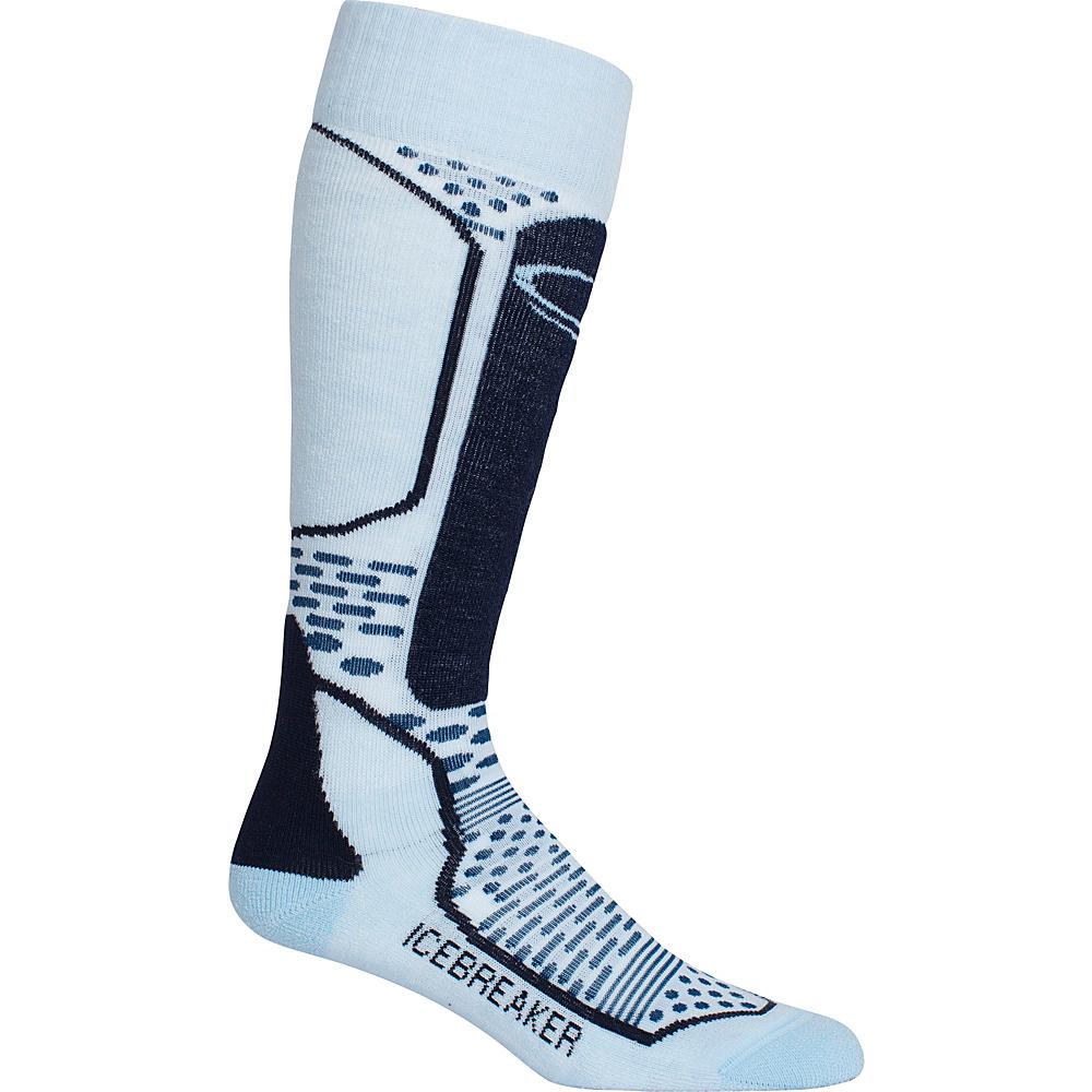 Icebreaker Womens Ski+ Light OTC Sock L - Ice Blue/Largo/Admiral - Icebreaker Womens Legwear/Socks - Apparel & Footwear, Women's Legwear/Socks