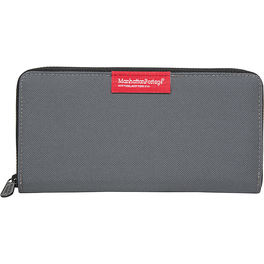 Manhattan Portage John Wallet Gray - Manhattan Portage Mens Wallets - Work Bags & Briefcases, Men's Wallets