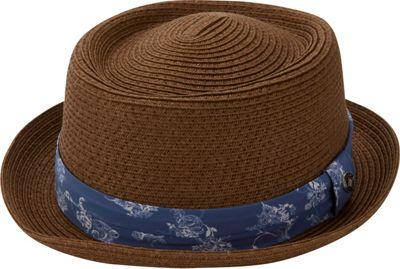 Ben Sherman Porkpie Straw Trilby S/M - Tobacco - Ben Sherman Hats