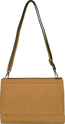 Bueno Veg Tan Convertible Crossbody Cashew - Bueno Leather Handbags