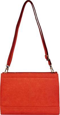 Bueno Veg Tan Convertible Crossbody Dark Coral - Bueno Leather Handbags