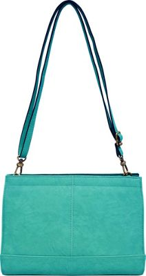 Bueno Veg Tan Convertible Crossbody Jade - Bueno Leather Handbags