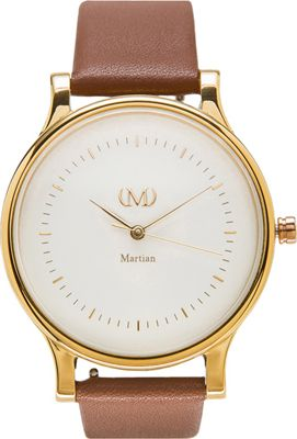 Martian Watches Martian CL 05 Smartwatch Creme Dial / Gold Stainless Steel Case / Luggage B - Martian Watches Wearable Technology
