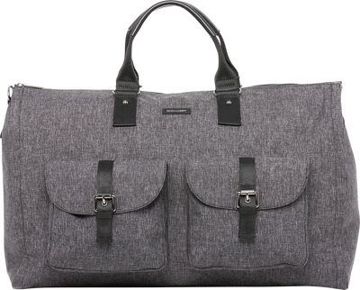 Hook & Albert Melange Fabric Garment Weekender Bag Gray - Hook & Albert Travel Duffels