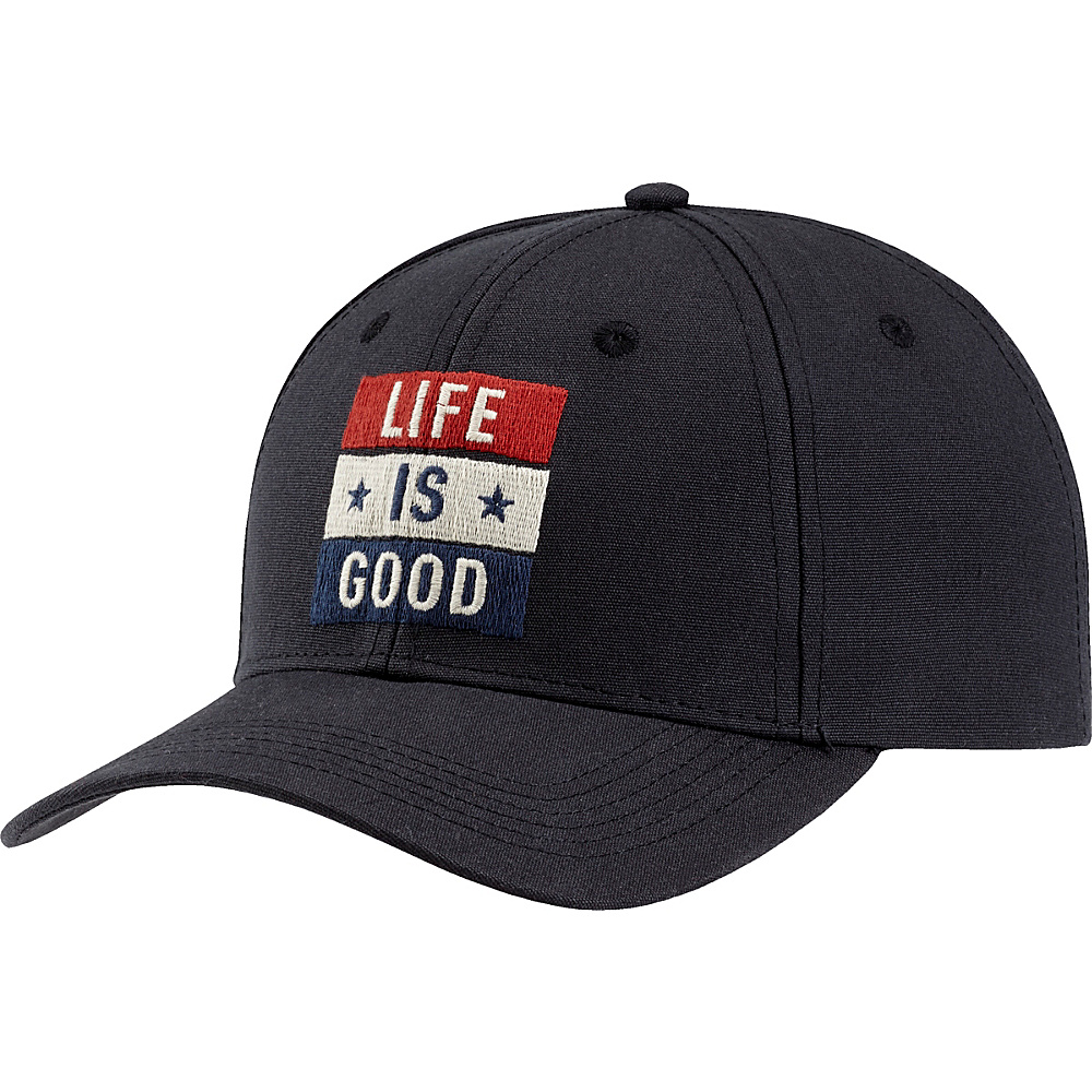Life is good High Rise Chill LIG Flag One Size - Night Black - Life is good Hats - Fashion Accessories, Hats