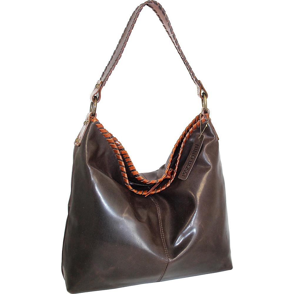 Nino Bossi Octavia Leather Shoulder Bag Chocolate - Nino Bossi Leather Handbags - Handbags, Leather Handbags