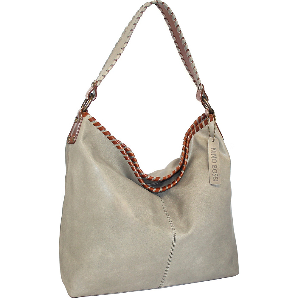 Nino Bossi Octavia Leather Shoulder Bag Stone - Nino Bossi Leather Handbags - Handbags, Leather Handbags