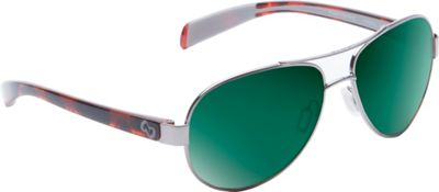 Native Eyewear Haskill Sunglasses Chrome/Maple Tort with Polarized Green Reflex - Native Eyewear Eyewear