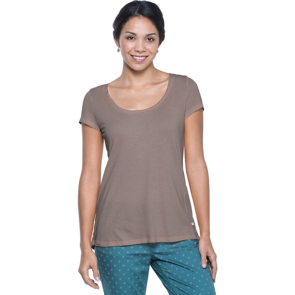 Toad & Co TiShort Sleeveue Cross Short Sleeve Tee L - Falcon Brown - Toad & Co Womens Apparel - Apparel & Footwear, Women's Apparel