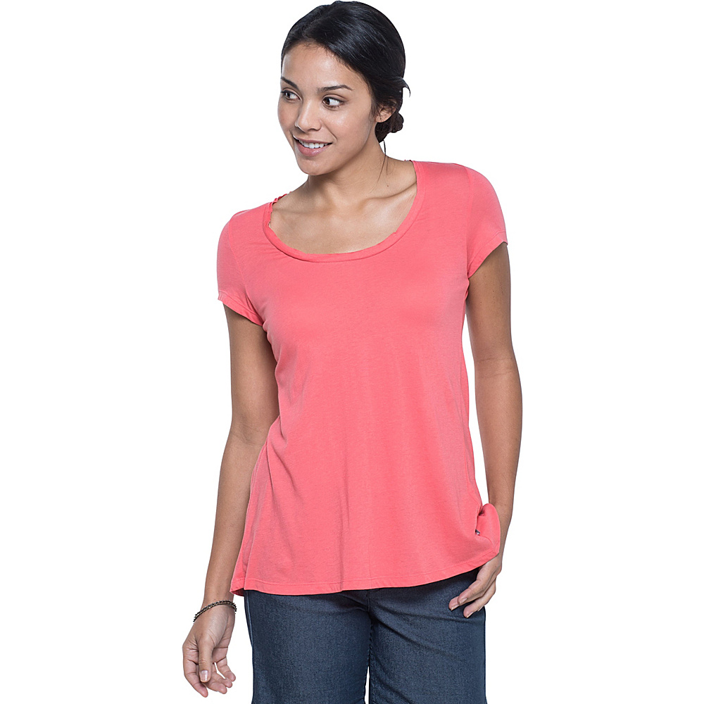 Toad & Co TiShort Sleeveue Cross Short Sleeve Tee XS - Spiced Coral - Toad & Co Womens Apparel - Apparel & Footwear, Women's Apparel