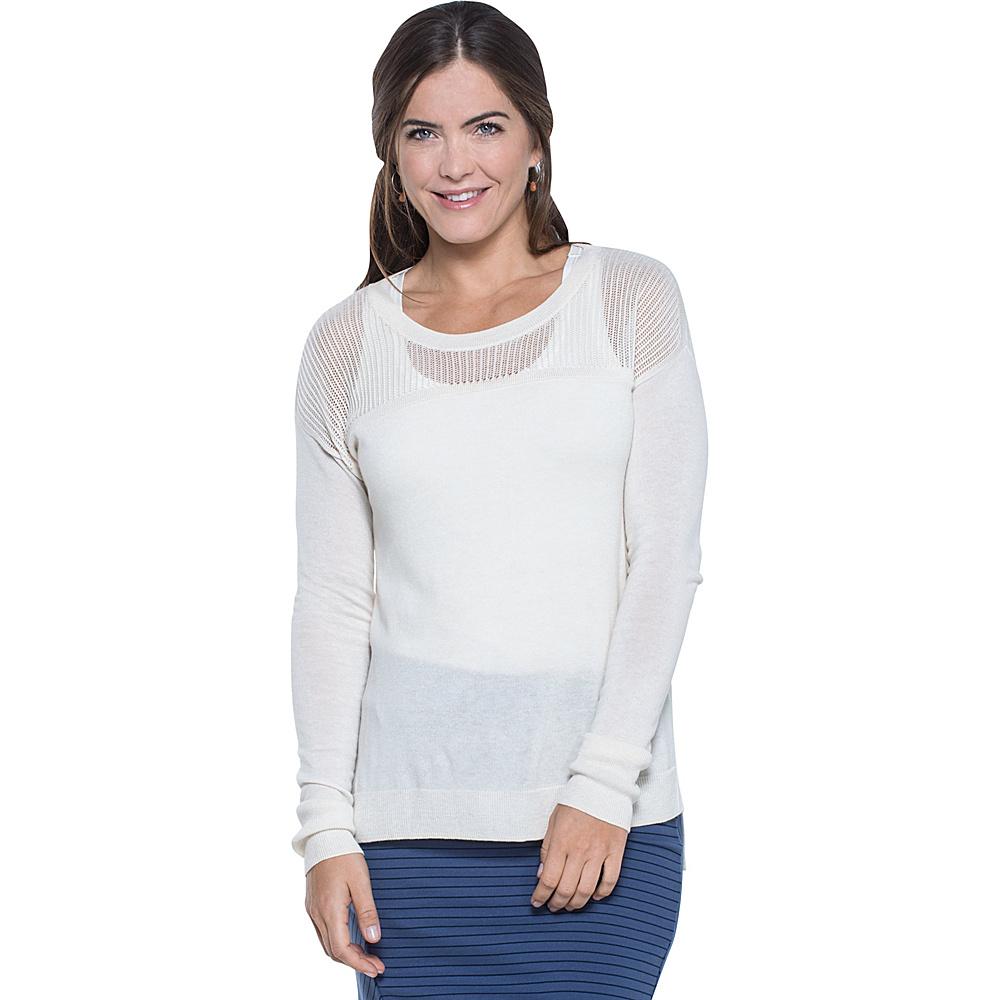 Toad & Co Jacinta Crew Sweater XL - Salt - Toad & Co Womens Apparel - Apparel & Footwear, Women's Apparel