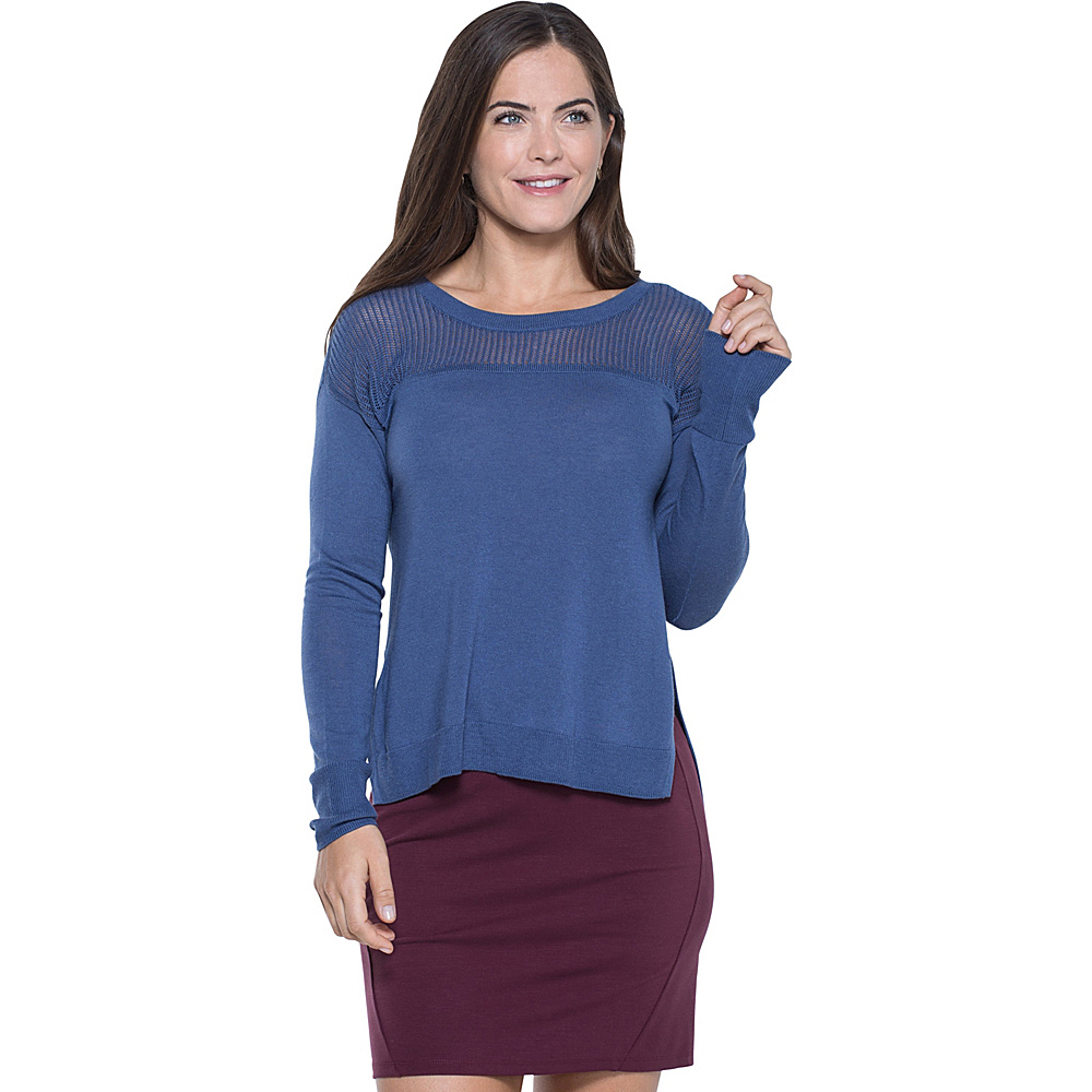 Toad & Co Jacinta Crew Sweater M - Indigo - Toad & Co Womens Apparel - Apparel & Footwear, Women's Apparel
