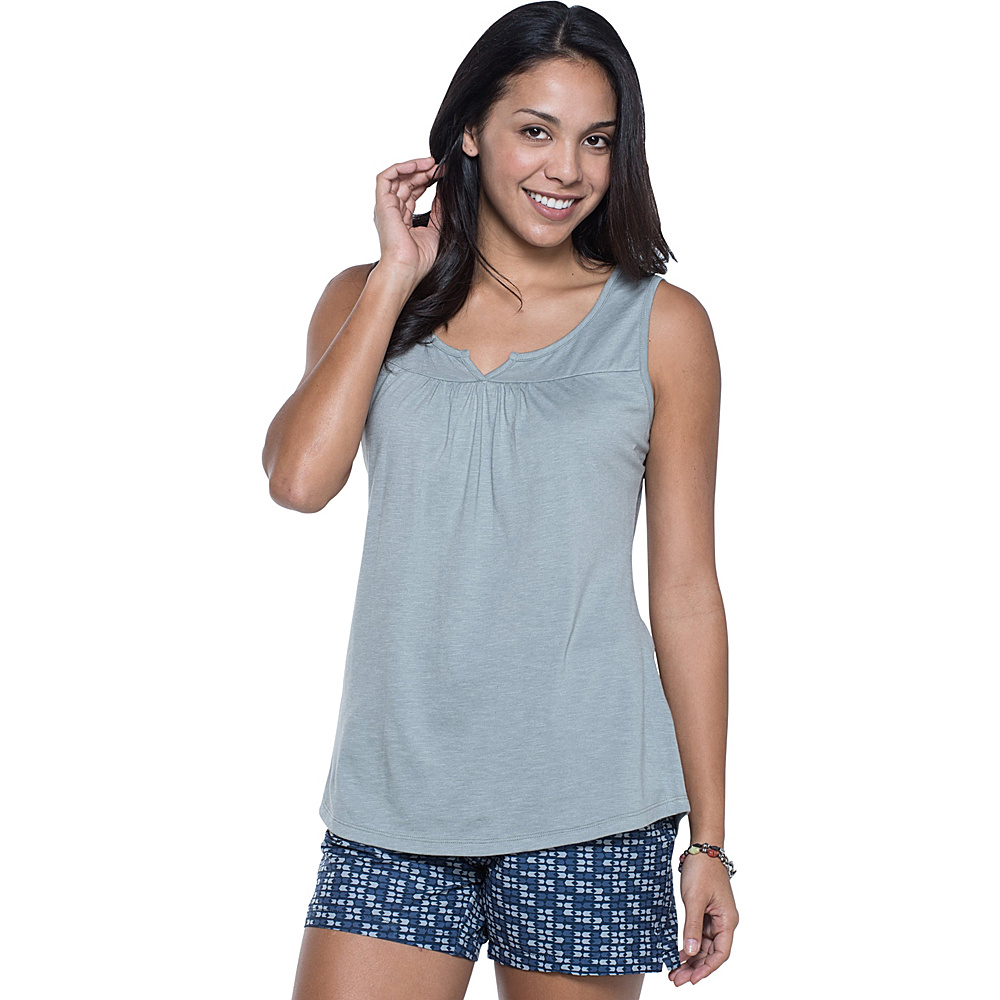 Toad & Co Palmilla Notched Tank M - Light Ash - Toad & Co Womens Apparel - Apparel & Footwear, Women's Apparel
