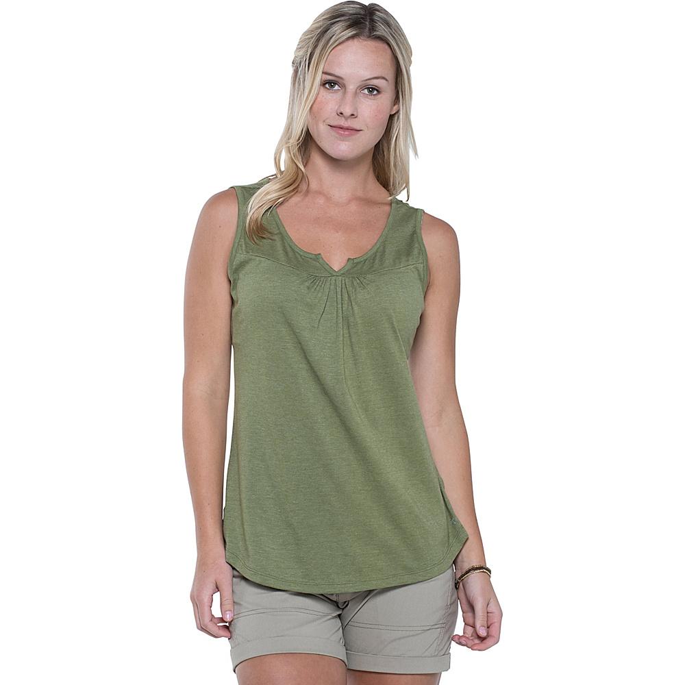 Toad & Co Palmilla Notched Tank M - Juniper - Toad & Co Womens Apparel - Apparel & Footwear, Women's Apparel