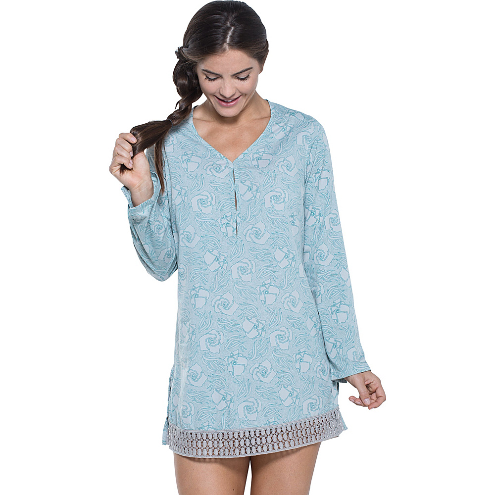 Toad & Co Sunlight Tunic XS - Chrome Floral Print - Toad & Co Womens Apparel - Apparel & Footwear, Women's Apparel