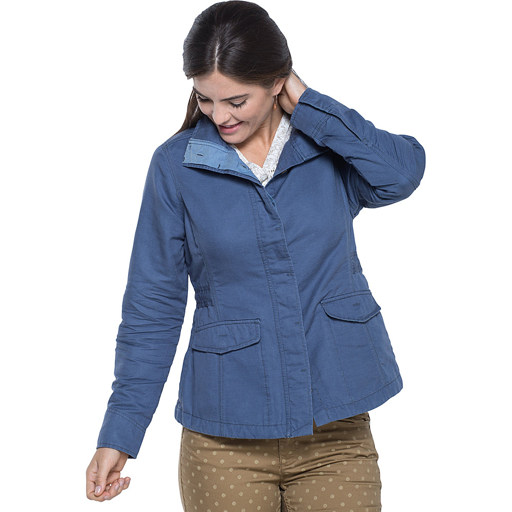 Toad & Co Dusk Jacket L - Indigo - Toad & Co Womens Apparel - Apparel & Footwear, Women's Apparel