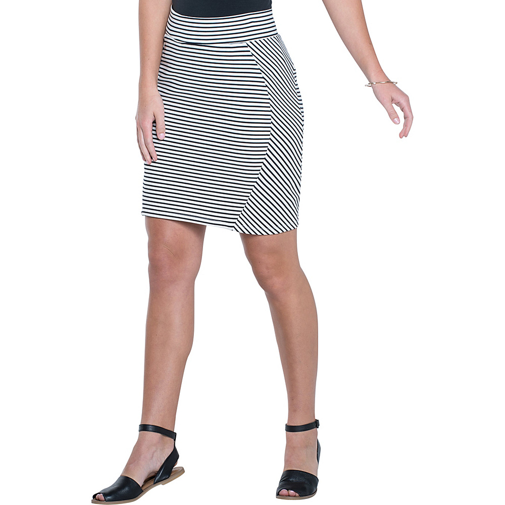 Toad & Co Transita Skirt 17.5 Inch M - Black Chic Stripe - Toad & Co Womens Apparel - Apparel & Footwear, Women's Apparel