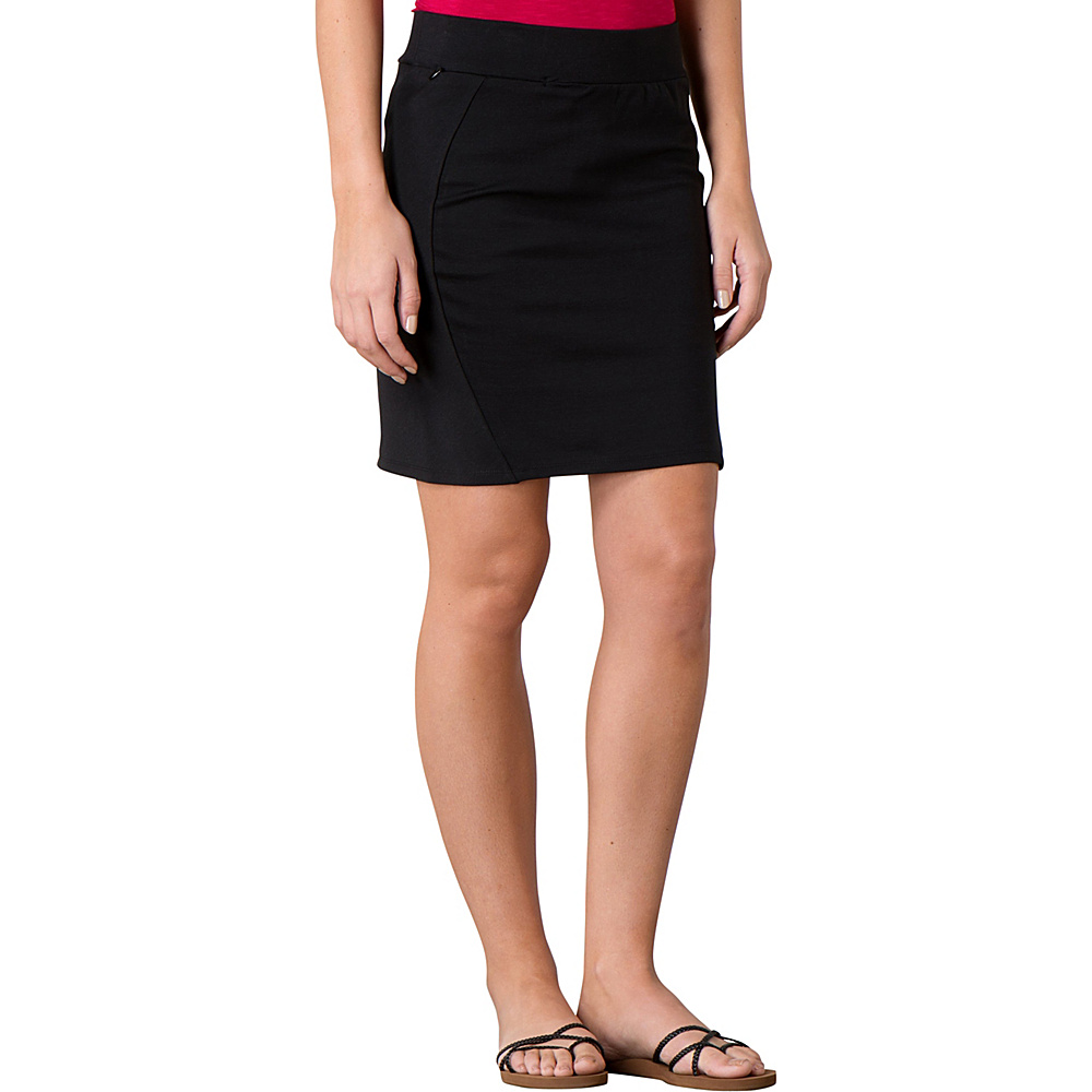 Toad & Co Transita Skirt 17.5 Inch M - Black - Toad & Co Womens Apparel - Apparel & Footwear, Women's Apparel