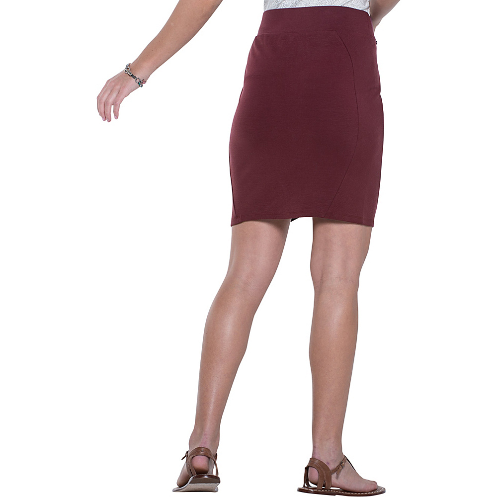 Toad & Co Transita Skirt 17.5 Inch XS - Sangria - Toad & Co Womens Apparel - Apparel & Footwear, Women's Apparel