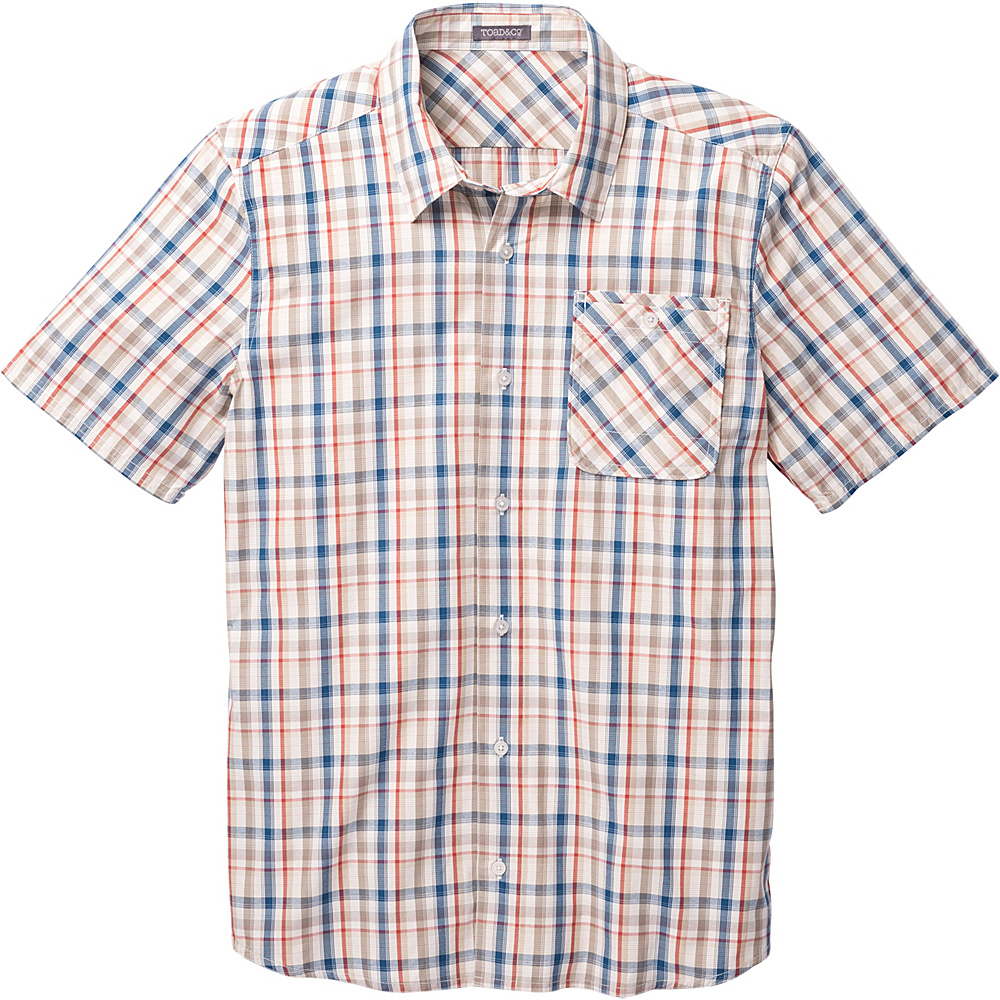 Toad & Co Ventilair Short Sleeve Shirt S - Salt - Toad & Co Mens Apparel - Apparel & Footwear, Men's Apparel