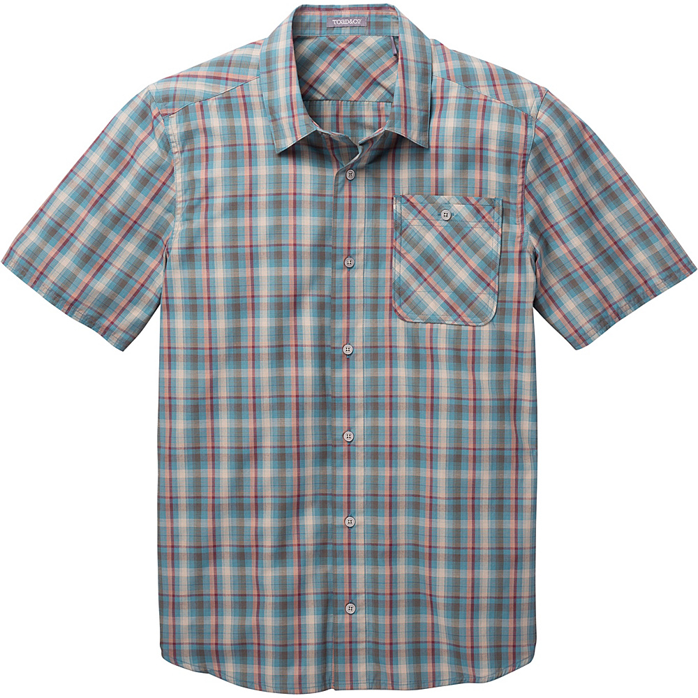 Toad & Co Ventilair Short Sleeve Shirt L - Hydro - Toad & Co Mens Apparel - Apparel & Footwear, Men's Apparel