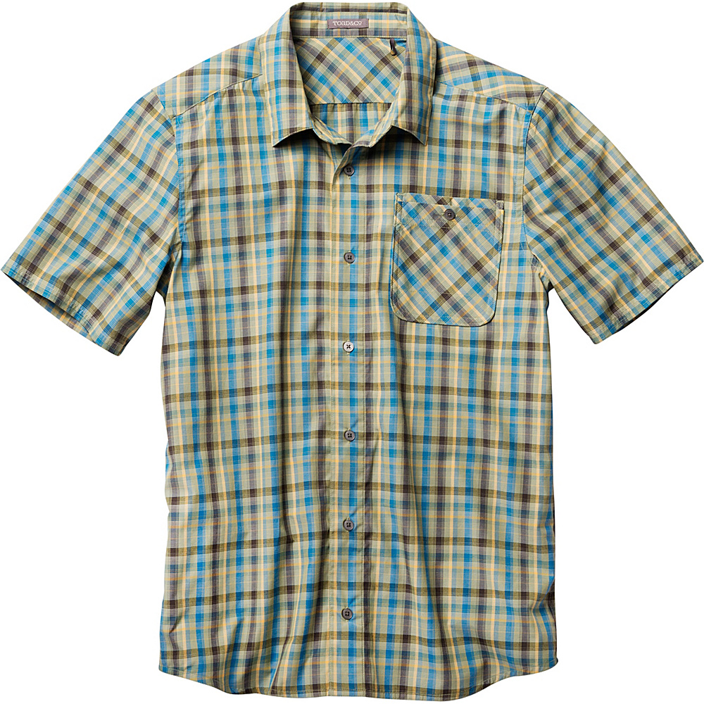 Toad & Co Ventilair Short Sleeve Shirt S - Iguana - Toad & Co Mens Apparel - Apparel & Footwear, Men's Apparel