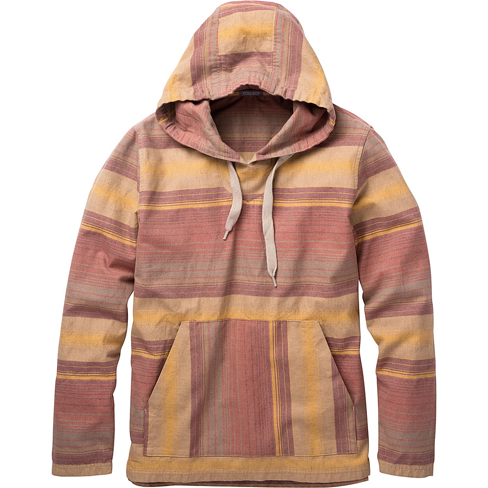 Toad & Co Loreto Hoodie M - Red Clay Stripe - Toad & Co Mens Apparel - Apparel & Footwear, Men's Apparel