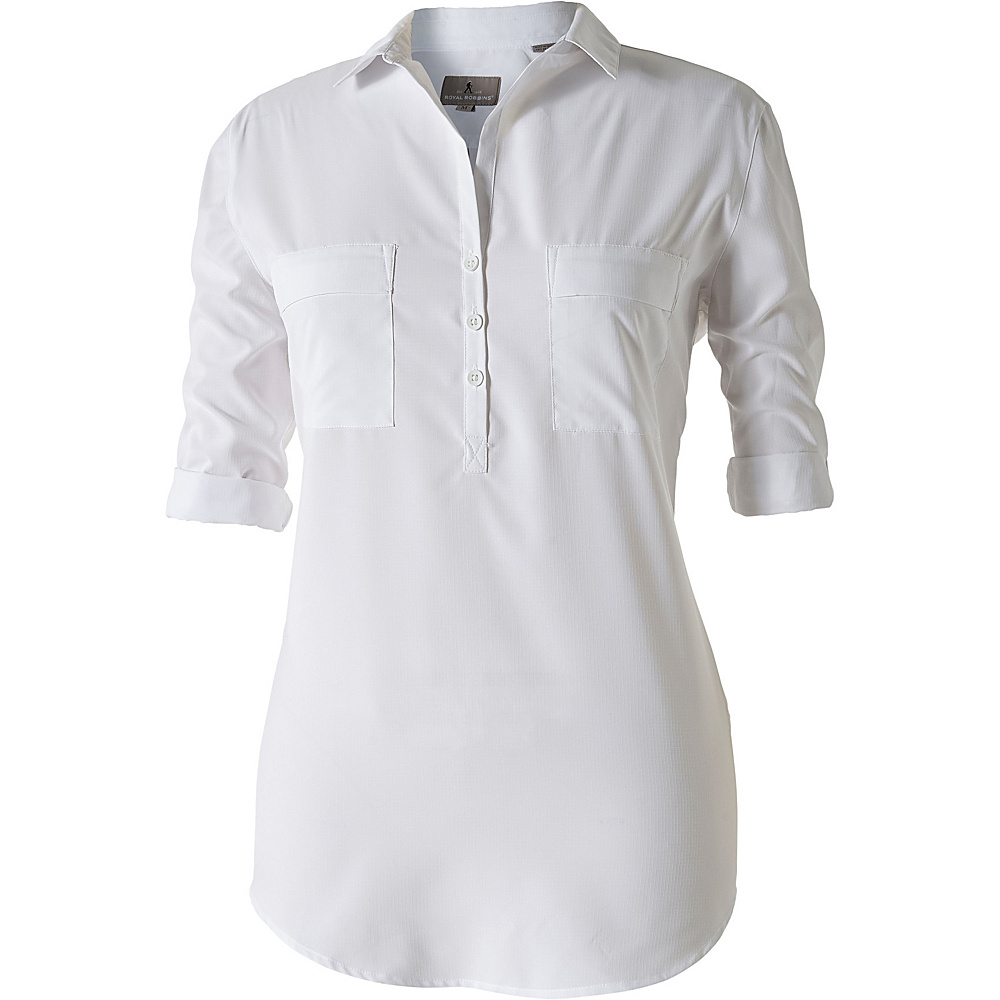 Royal Robbins Womens Expedition Chill Stretch Tunic M - White - Royal Robbins Womens Apparel - Apparel & Footwear, Women's Apparel