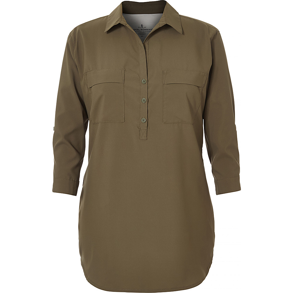 Royal Robbins Womens Expedition Chill Stretch Tunic XS - Loden - Royal Robbins Womens Apparel - Apparel & Footwear, Women's Apparel