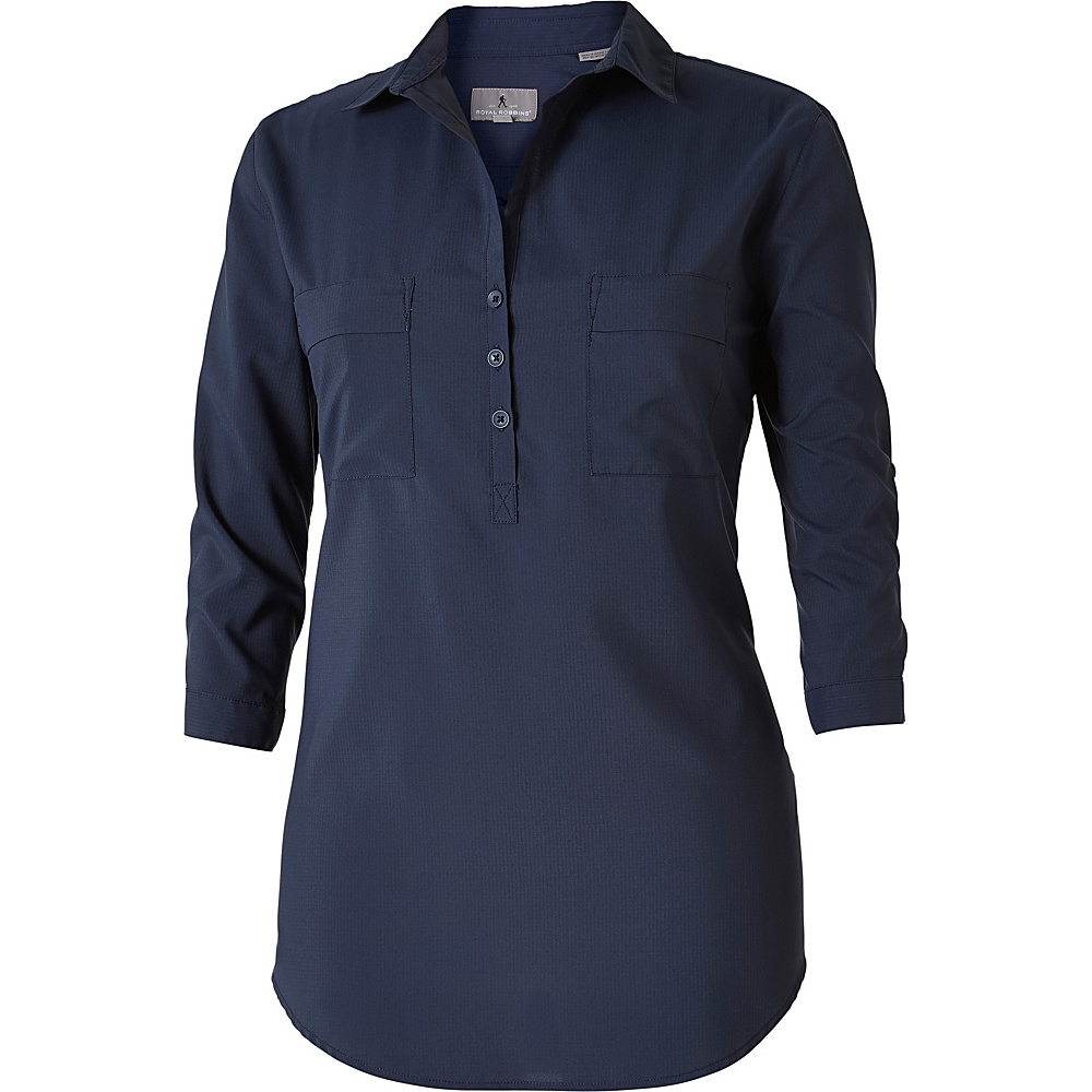 Royal Robbins Womens Expedition Chill Stretch Tunic XL - Navy - Royal Robbins Womens Apparel - Apparel & Footwear, Women's Apparel