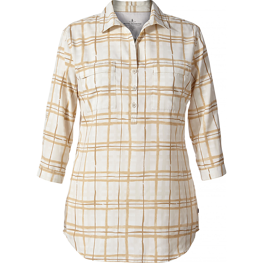 Royal Robbins Womens Expedition Chill Stretch Tunic XS - Soapstone Print - Royal Robbins Womens Apparel - Apparel & Footwear, Women's Apparel