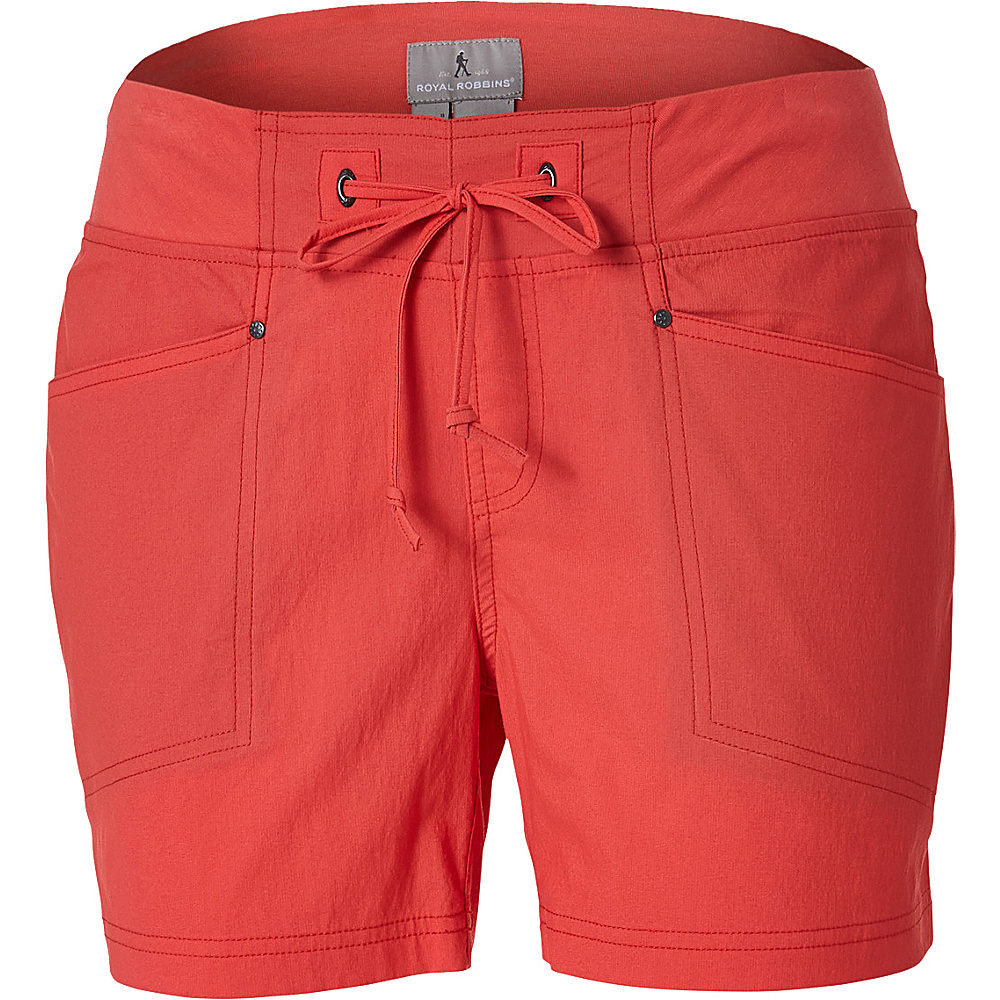 Royal Robbins Womens Jammer Short M - 5in - Dark Coral - Royal Robbins Womens Apparel - Apparel & Footwear, Women's Apparel