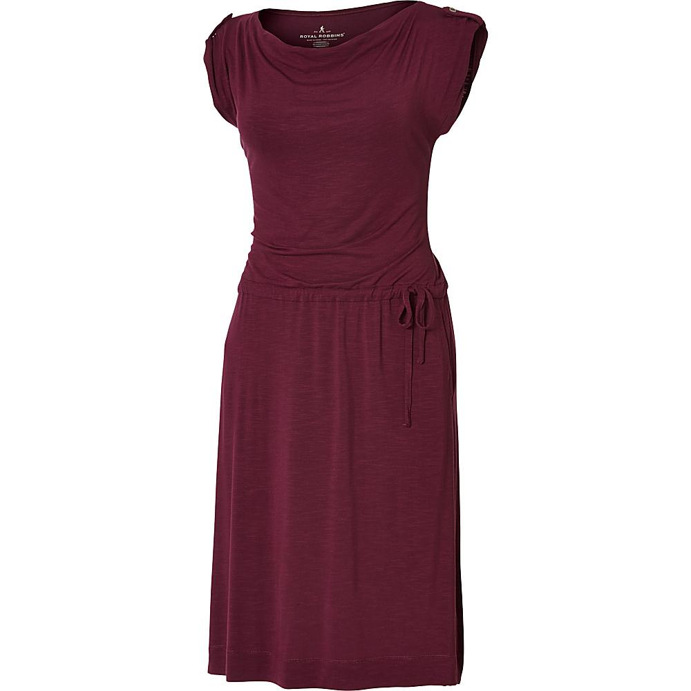 Royal Robbins Womens Noe Dress M - Plum Wine - Royal Robbins Womens Apparel - Apparel & Footwear, Women's Apparel