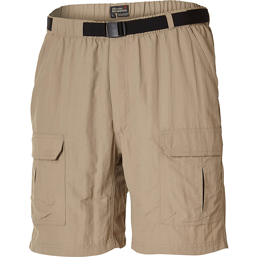 Royal Robbins Mens Backcountry Short L - Khaki - Royal Robbins Mens Apparel - Apparel & Footwear, Men's Apparel