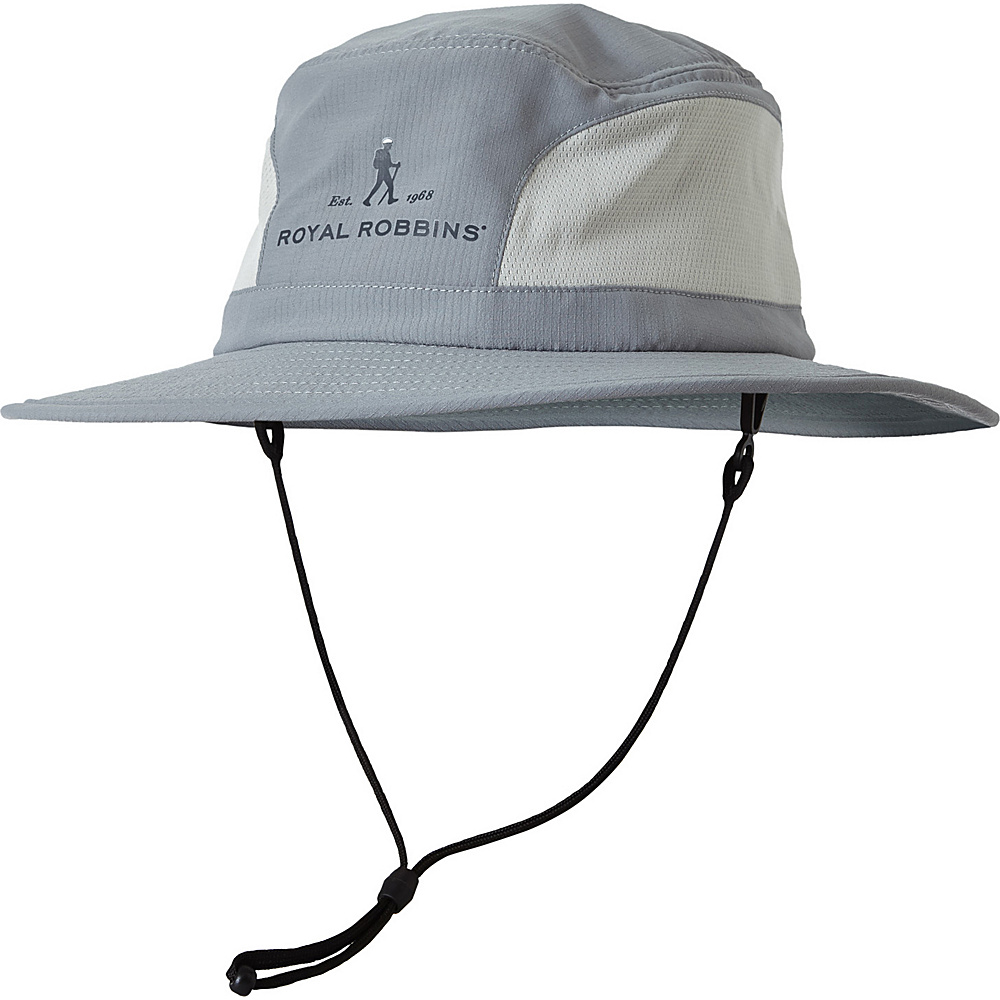 Royal Robbins Mens Wick-Ed Cool Sun Hat One Size - Light Pewter - Royal Robbins Hats/Gloves/Scarves - Fashion Accessories, Hats/Gloves/Scarves