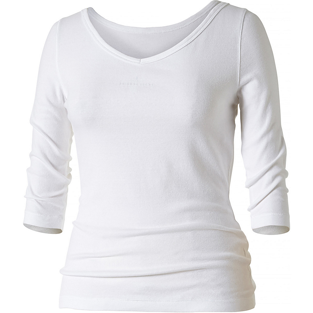 Royal Robbins Womens Kickback To Front 3/4 Sleeve S - White - Royal Robbins Womens Apparel - Apparel & Footwear, Women's Apparel
