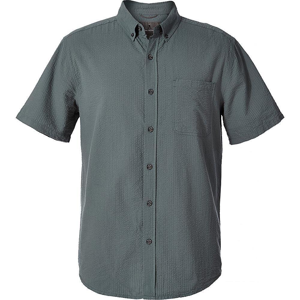 Royal Robbins Mens Mid-Coast Seersucker Short Sleeve Shirt XL - North Atlantic - Royal Robbins Mens Apparel - Apparel & Footwear, Men's Apparel