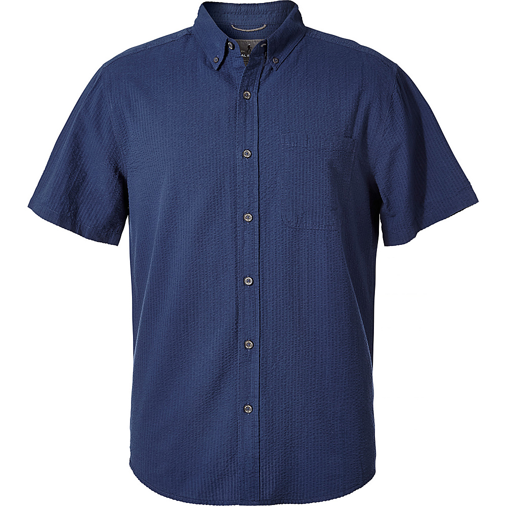 Royal Robbins Mens Mid-Coast Seersucker Short Sleeve Shirt XL - Collins Blue - Royal Robbins Mens Apparel - Apparel & Footwear, Men's Apparel