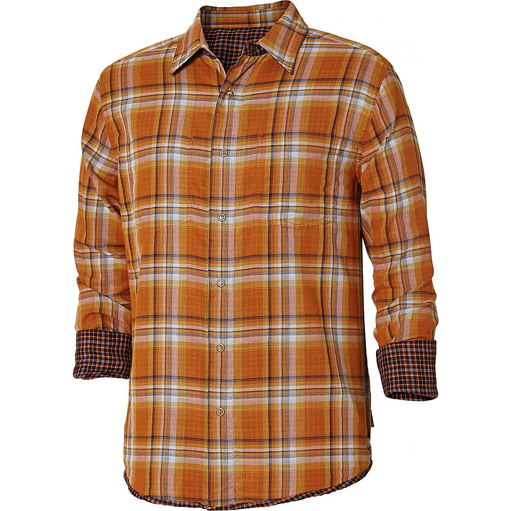 Royal Robbins Mens Double Cloth Long Sleeve Shirt XL - Marmalade - Royal Robbins Mens Apparel - Apparel & Footwear, Men's Apparel