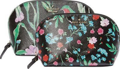 kate spade new york Cameron Street Jardin Abalene Set Pouch Black Multi - kate spade new york Women's SLG Other